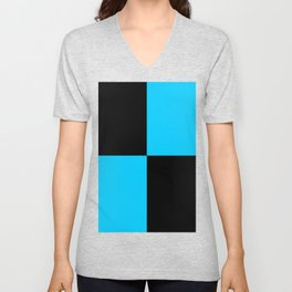 Big mosaic turquoise black Unisex V-Neck