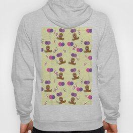Teddy for girls with balloons Hoody