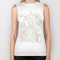 lime Biker Tanks featuring Lime Tree by KATIE PAYNE