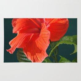 Red Darling Hibiscus Rug