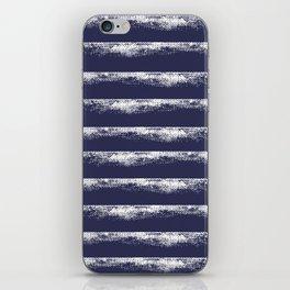 Irregular Stripes Dark Blue iPhone Skin
