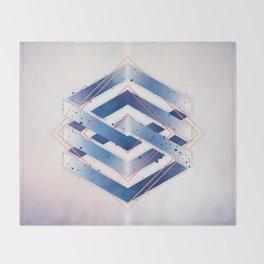 Floating Geometry :: Winter Hexagon Throw Blanket