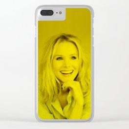 Kristen Bell - Celebrity (Florescent Color Technique) Clear iPhone Case