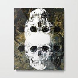 Skull Graffiti 1.0 Metal Print