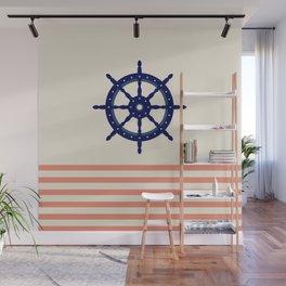 AFE Navy Helm Wheel Wall Mural