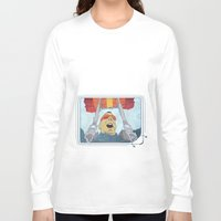 ski Long Sleeve T-shirts featuring Ski dive by Aquamarine Studio