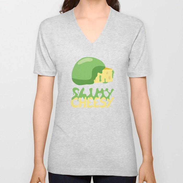 Slimy cheesy Unisex V-Neck