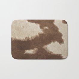 Cowhide Brown and White Bath Mat