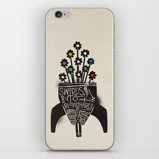 Swords Into Plowshares iPhone & iPod Skin