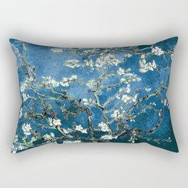 Van Gogh Almond Blossoms : Ocean Blue Rectangular Pillow