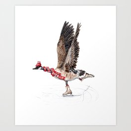 Canada Goose Figure Skating Art Print