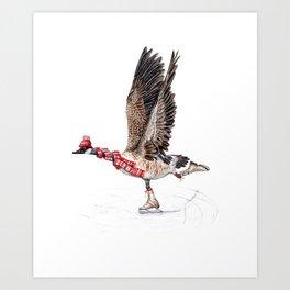 Canada Goose Figure Skating Art Print