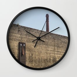 Clet Abraham art in Prato - Tuscany Wall Clock