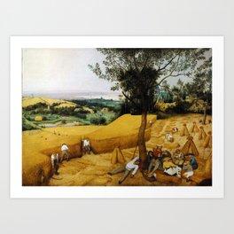 The Harvesters by Pieter Bruegel the Elder (1565) Art Print