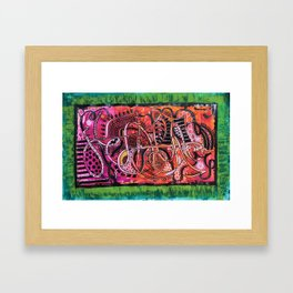 Abstracto Full Color Framed Art Print