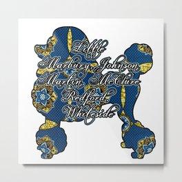 Blue Regal Poodle Founders Metal Print