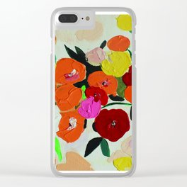 smell the flowers - art print Clear iPhone Case