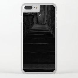 Dark stairs Clear iPhone Case