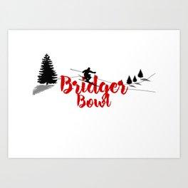 Ski at Bridger Bowl Art Print
