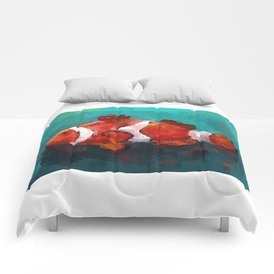 Red Clown Comforters