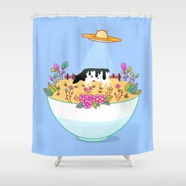 Kidnapped During Ramen Trip Shower Curtain