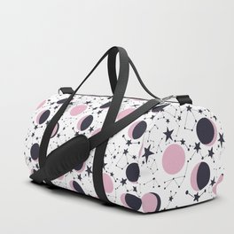 Modern Moon and Star Pattern Duffle Bag