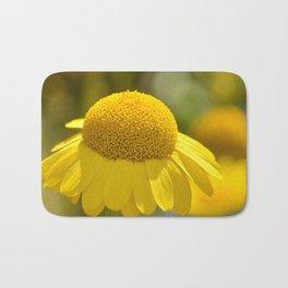 Yellow flower macro 253 Bath Mat