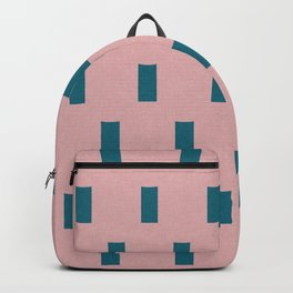 Minimal Rectangle pattern pink and blue Half drop Backpack