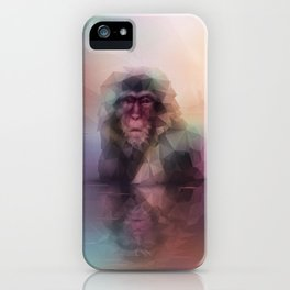 Macaque (Low Poly Multi II Snow Monkey) iPhone Case
