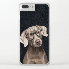 Mr Weimaraner Clear iPhone Case