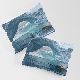 Narwhales ans icebergs Pillow Sham