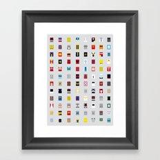 Minimalism robots (Good natured / Defenders) Framed Art Print