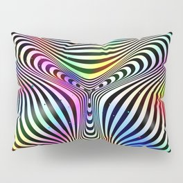 Holographic hypnotic pattern. Colorful iridescent effect. Pillow Sham