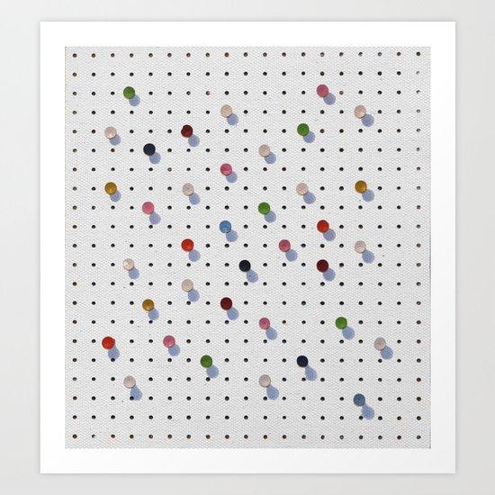 Pin Points Art Print