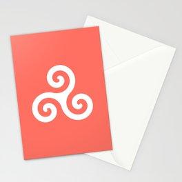 Triskele 9 -triskelion,triquètre,triscèle,spiral,celtic,Trisquelión,rotational Stationery Cards