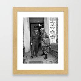 General Eisenhower and General Ridgway -- WW2 Framed Art Print