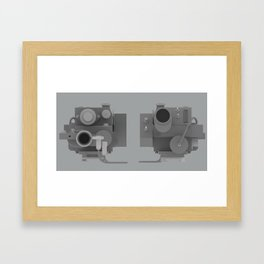 Ghostbusters Positron Collider overview Framed Art Print