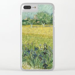 Vincent van Gogh - Field with Flowers near Arles Clear iPhone Case
