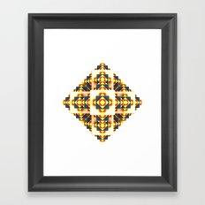 Navajo Cubes / / #design #society6 #buyart #fractals Framed Art Print