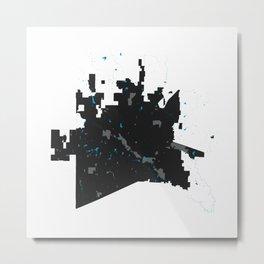 McKinney Texas Minimalist Map (Light) Metal Print