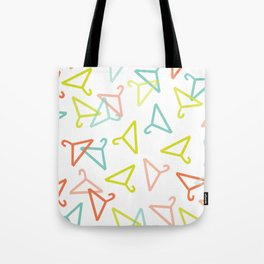 Coloured Hangers Tote Bag
