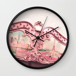 Paris Nursery, Violet, Carousel Wall Clock