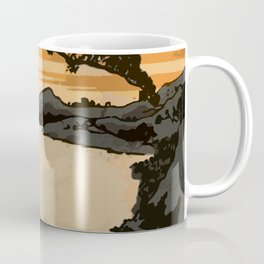 Japan Art, Japanese Style Painting Sunset Coffee Mug