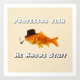 Professor Fish Art Print
