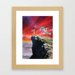 lady werewolf and the horseman Framed Art Print