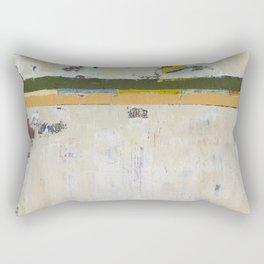 Chariot White Abstract Modern Painting Art Rectangular Pillow