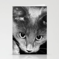 kitten Stationery Cards featuring kitten by Bunny Noir
