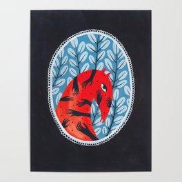 Smug red horse 2. Poster