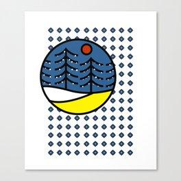 Diamond Pattern Outdoor Scene Canvas Print