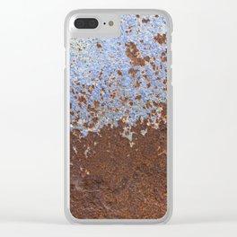 Blue Rust Clear iPhone Case